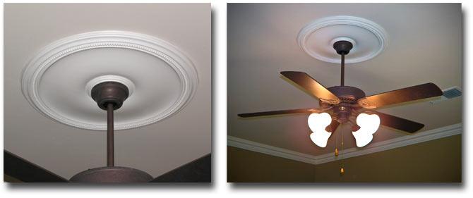 ceiling fan medallions.