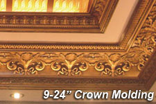 "9"" to 24"" Crown Molding"