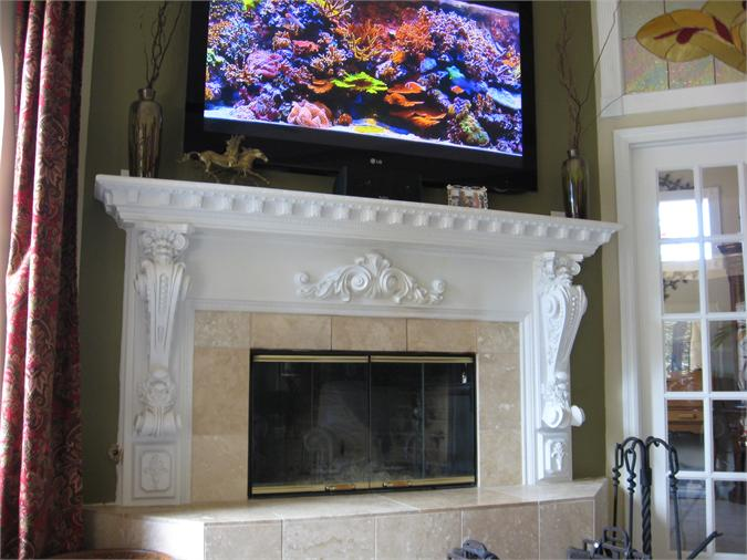 Travertine Fireplace Design