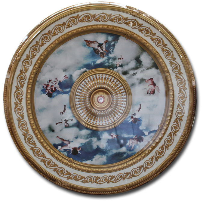 Wishihadthat Ceiling Medallion Angels In Clouds