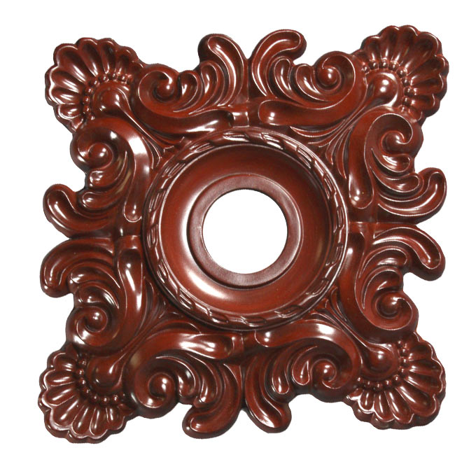 Wishihadthat Light Fan Ceiling Medallion Stained Mahogany