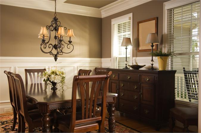 Interesting Dining Room Color Schemes Chair Rail Designs Design