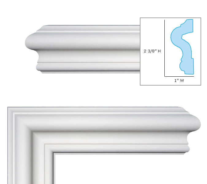 FM-7013 Chair Rail, Window And Door Trim