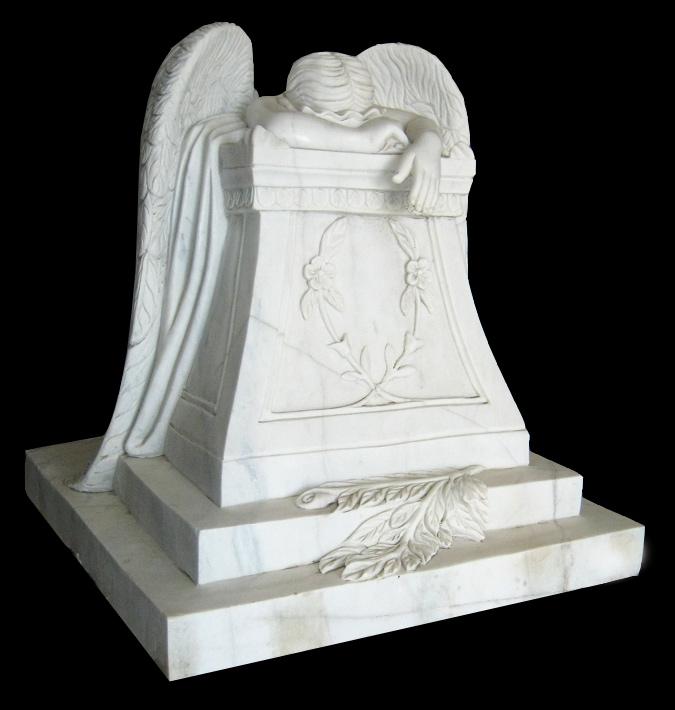 28 Quot Weeping Angel Memorial Marble Sculpture