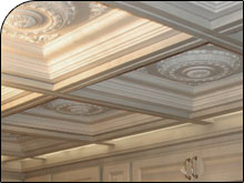 Polyurethane ceiling tiles