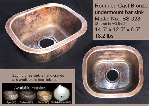 Rounded Bronze Bar Sink BS 028