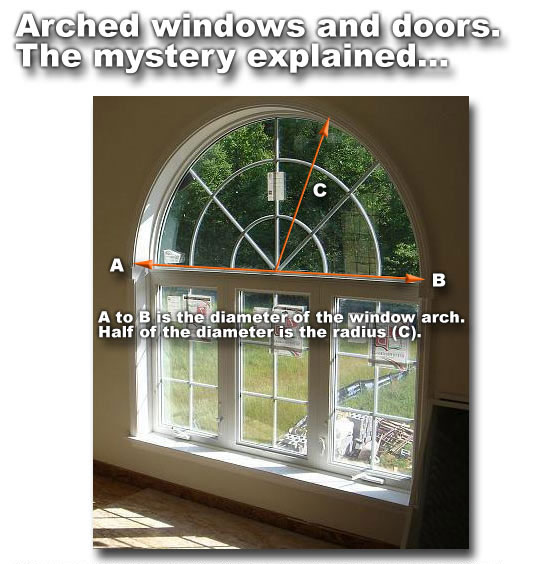 Arch Window on round over doorway