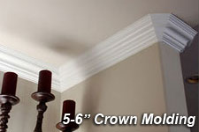 5 6 Crown Molding These Moldings Are Most Commonly Used For Large Rooms With 8 10 Ceilings Or Small To Medium Sized 9 12