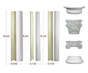 Half columns at the column superstore for Fiberglass columns for sale