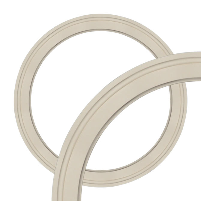 Curved Molding Creates Arches And Circles