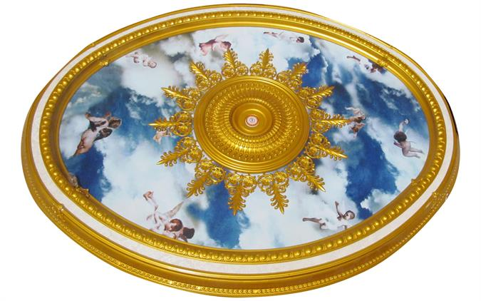 Wishihadthat Oval Ceiling Medallion Angels In Clouds
