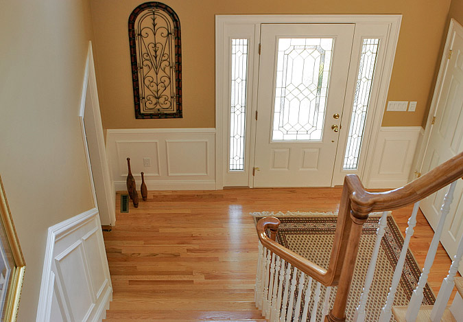 chair rail entryway