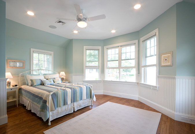 Light Turquoise Designed Bedroom