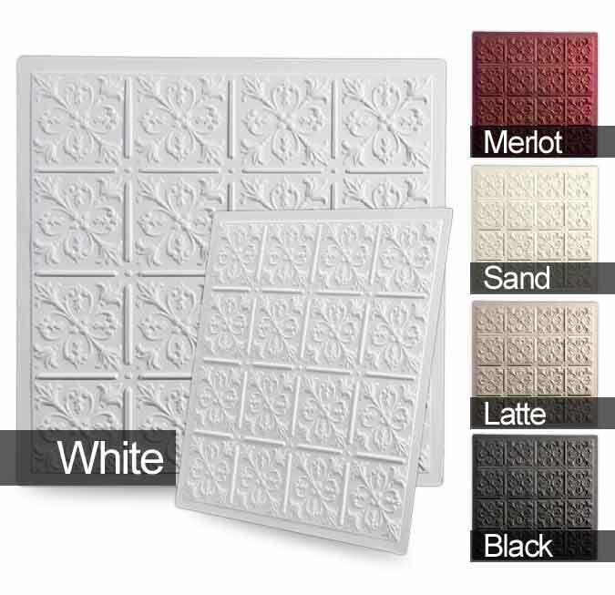 Wishihadthat Ceiling Tiles Fleur De Lis Color Tiles