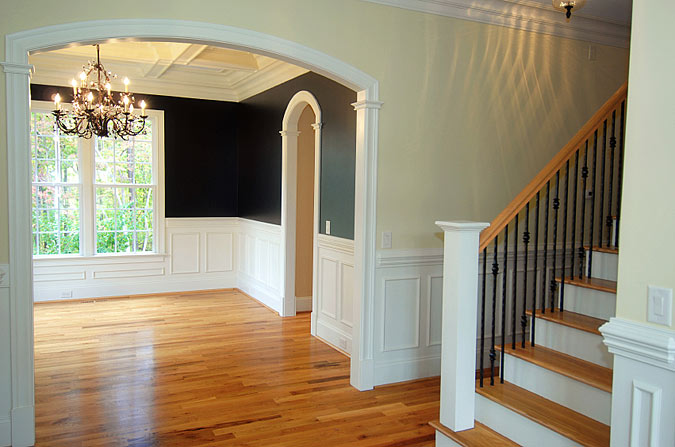 entryway and stair design. Black Bedroom Furniture Sets. Home Design Ideas