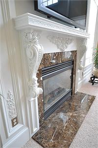 Decorative White Fireplace Mantel