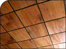 Wood Veneer Tiles Plaster Ceiling
