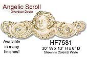 Angelic Scroll Overdoor Decor